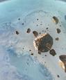 En kunstners bud på jernmeteorittens færd gennem rummet inden den rammer Indlandsisen i Nordvest Grønland.